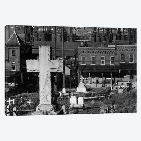Bethlehem Graveyard and Steel Mill Canvas Print #PCA453} by Print Collection Canvas Artwork