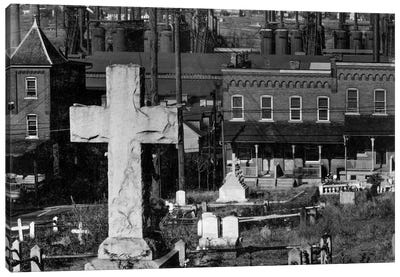 Bethlehem Graveyard and Steel Mill Canvas Print #PCA453