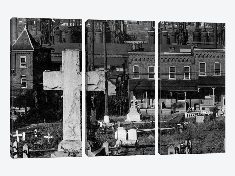 Bethlehem Graveyard and Steel Mill by Print Collection 3-piece Canvas Art