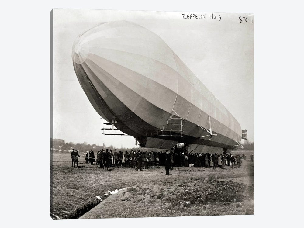 Blimp, Zeppelin No. 3, on Ground 1-piece Art Print