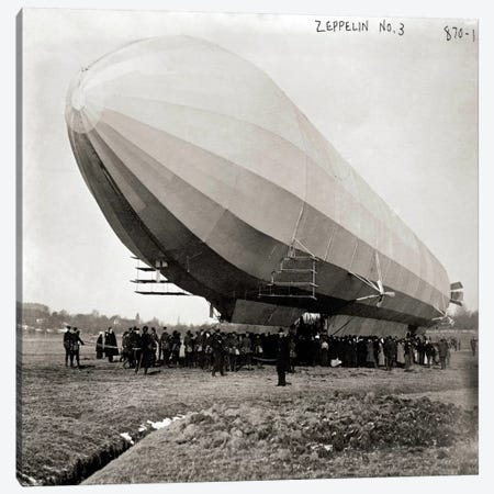 Blimp, Zeppelin No. 3, on Ground Canvas Print #PCA454} by Print Collection Art Print