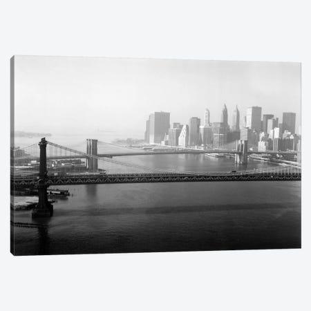 Brooklyn Bridge and Manhattan Bridge Aerial Canvas Print #PCA455} by Print Collection Canvas Print