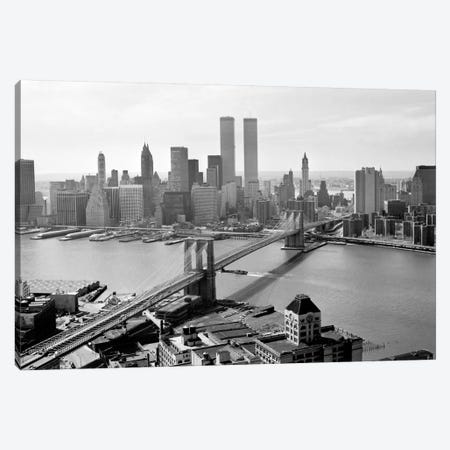 Brooklyn Bridge and World Trade Center, Lower Manhattan Canvas Print #PCA456} by Print Collection Art Print