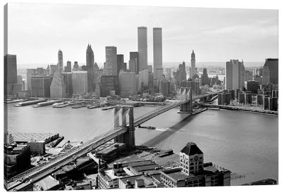 Brooklyn Bridge and World Trade Center, Lower Manhattan Canvas Art Print