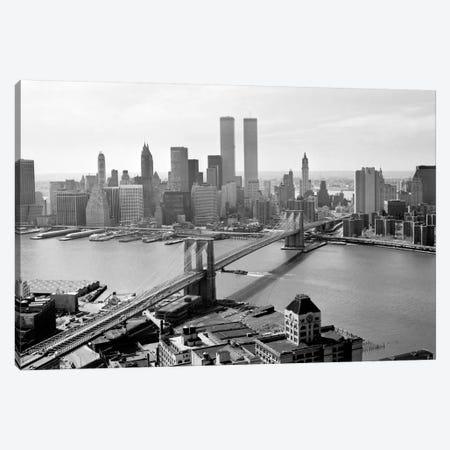 Brooklyn Bridge and World Trade Center, Lower Manhattan Canvas Print #PCA456} by Print Collection Art Print