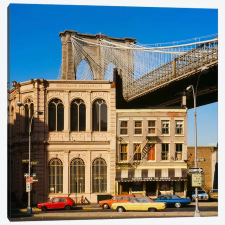 Brooklyn Bridge East Tower Canvas Print #PCA457} by Print Collection Canvas Art Print