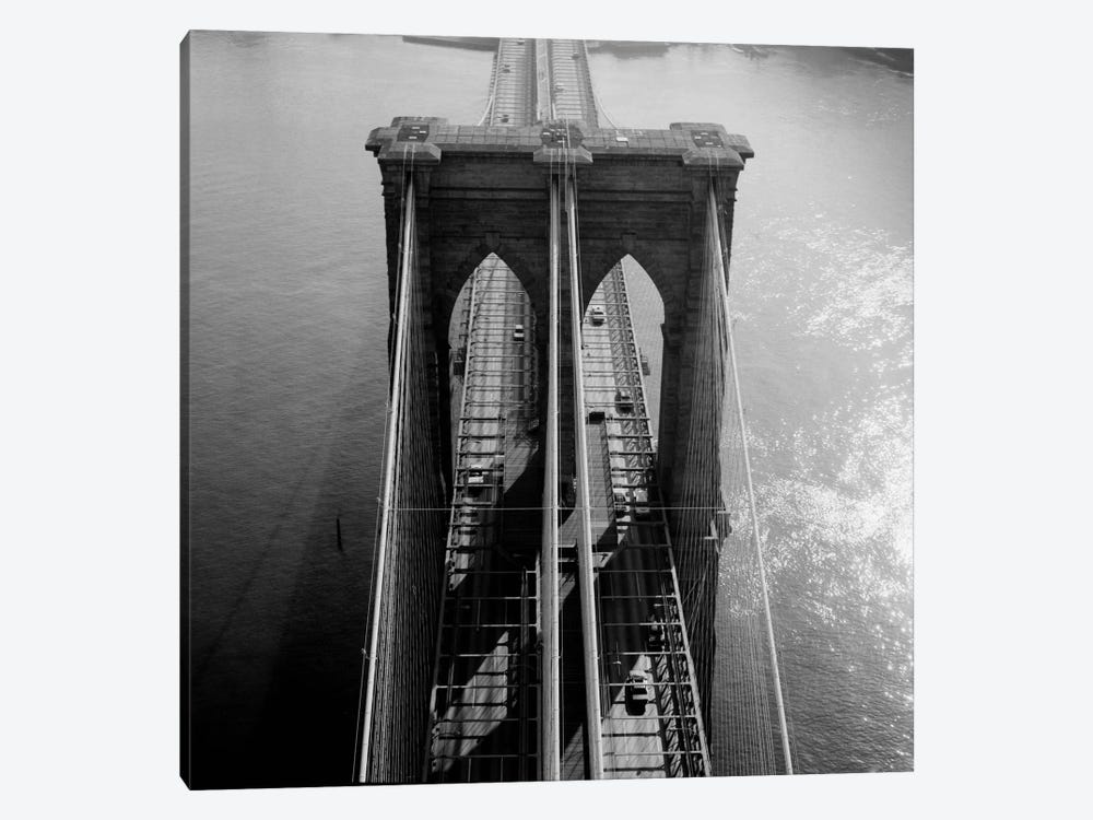 Brooklyn Bridge Tower Aerial by Print Collection 1-piece Art Print