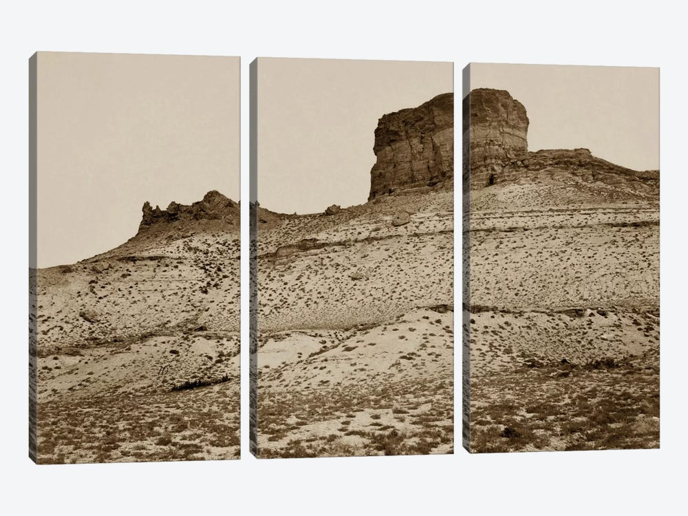 Buttes near Green River City, WY by Print Collection 3-piece Canvas Art Print