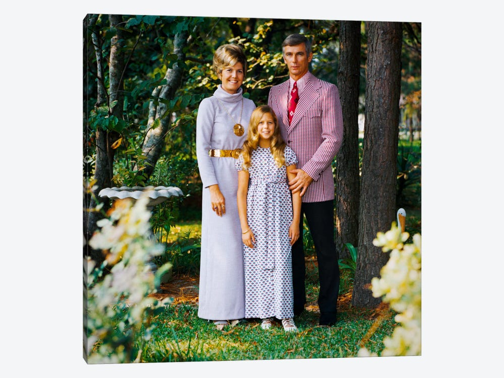Cernan Poses for a Family Portrait by Print Collection 1-piece Canvas Art