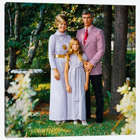 Cernan Poses for a Family Portrait Canvas Print #PCA466} by Print Collection Canvas Artwork