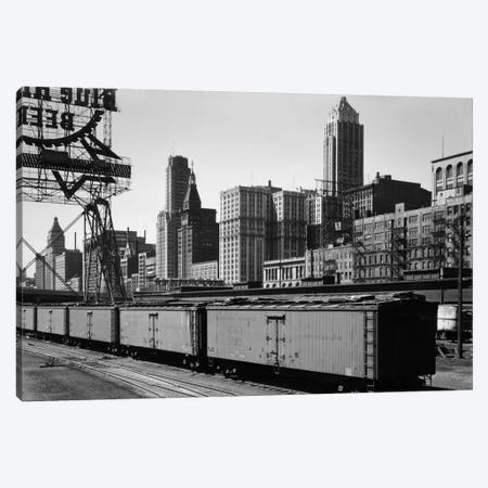 Chicago Skyline from Water Street Canvas Print #PCA468} by Print Collection Canvas Art Print
