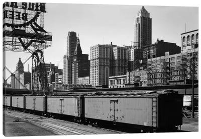 Chicago Skyline from Water Street Canvas Print #PCA468