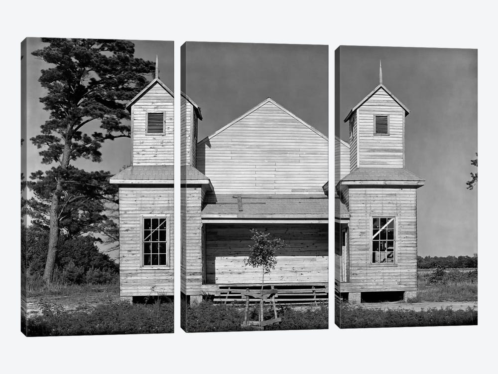 Church, Southeastern U.S., #2 by Print Collection 3-piece Canvas Art Print
