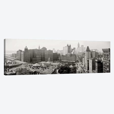 City Hall Panorama, New York Canvas Print #PCA471} by Print Collection Canvas Artwork