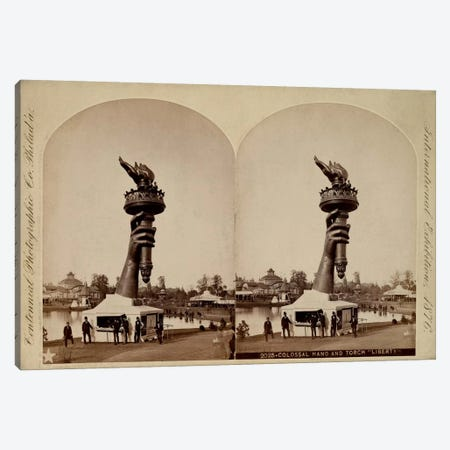 """Colossal Hand and Torch """"Liberty"""" Canvas Print #PCA472} by Print Collection Canvas Wall Art"""
