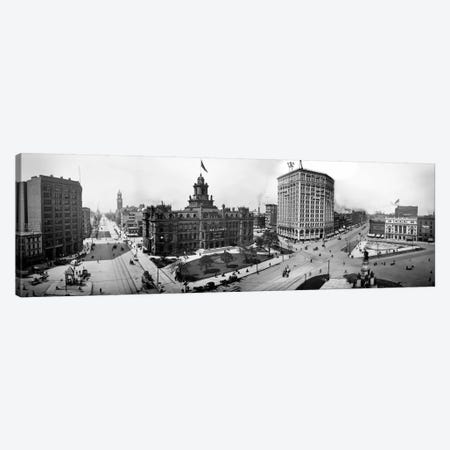 City Hall and Campus Martius, Detroit Canvas Print #PCA475} by Print Collection Canvas Art Print