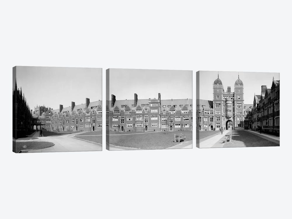 Dormitories, U of P, Philadelphia, Pennsylvania by Print Collection 3-piece Canvas Wall Art