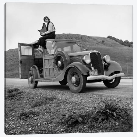 Dorothea Lange, Portrait of the Photographer Canvas Print #PCA478} by Print Collection Canvas Artwork