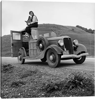 Dorothea Lange, Portrait of the Photographer Canvas Art Print