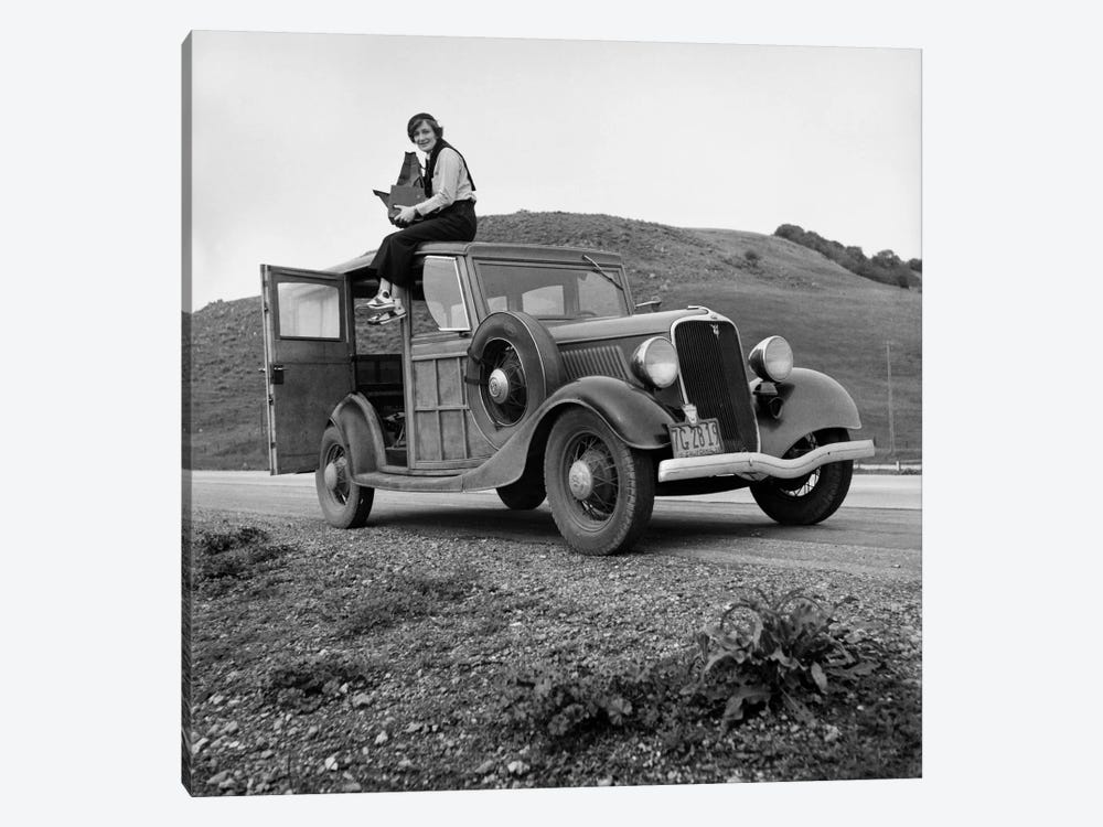 Dorothea Lange, Portrait of the Photographer by Print Collection 1-piece Canvas Art Print