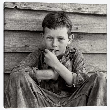 Floyd Burroughs, Jr., By Walker Evans Canvas Print #PCA483} by Print Collection Canvas Print