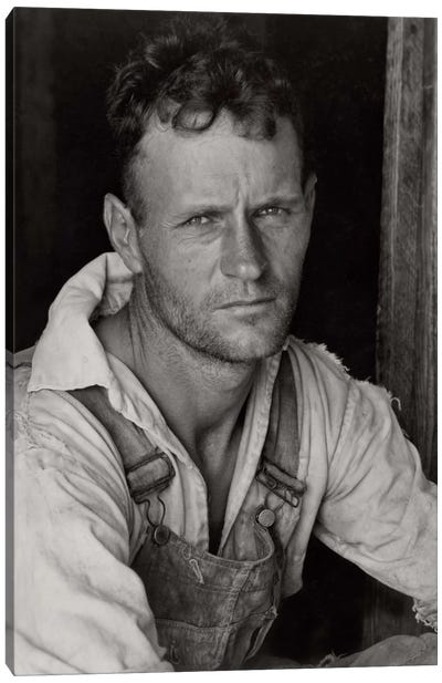 Floyd Burroughs, Sharecropper, By Walker Evans Canvas Art Print