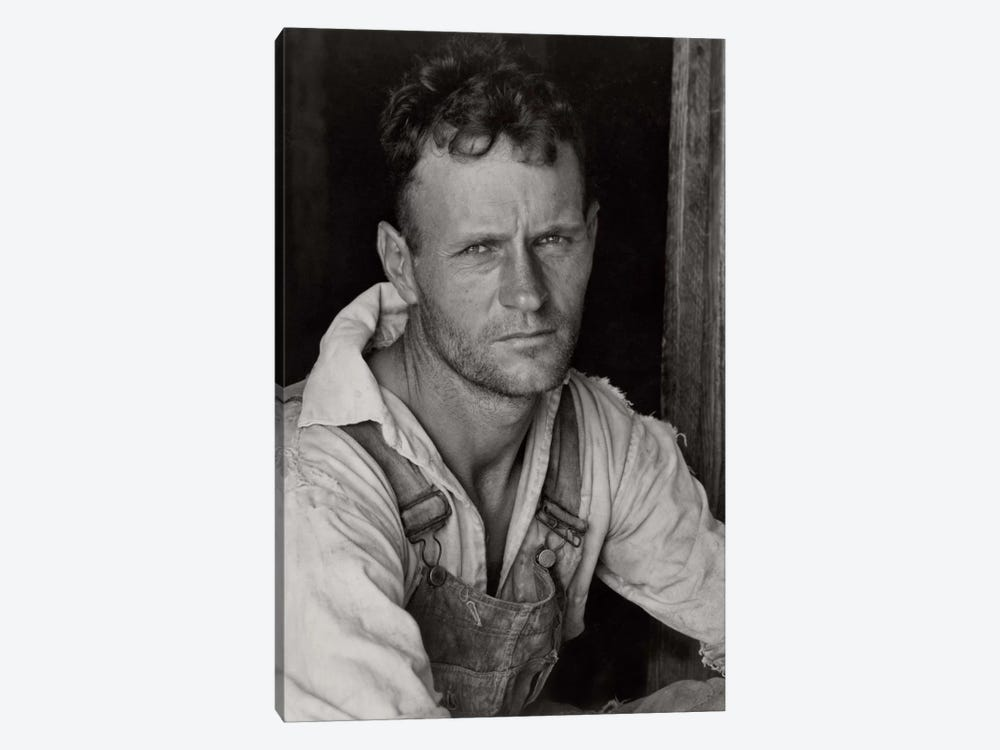 Floyd Burroughs, Sharecropper, By Walker Evans by Print Collection 1-piece Canvas Artwork