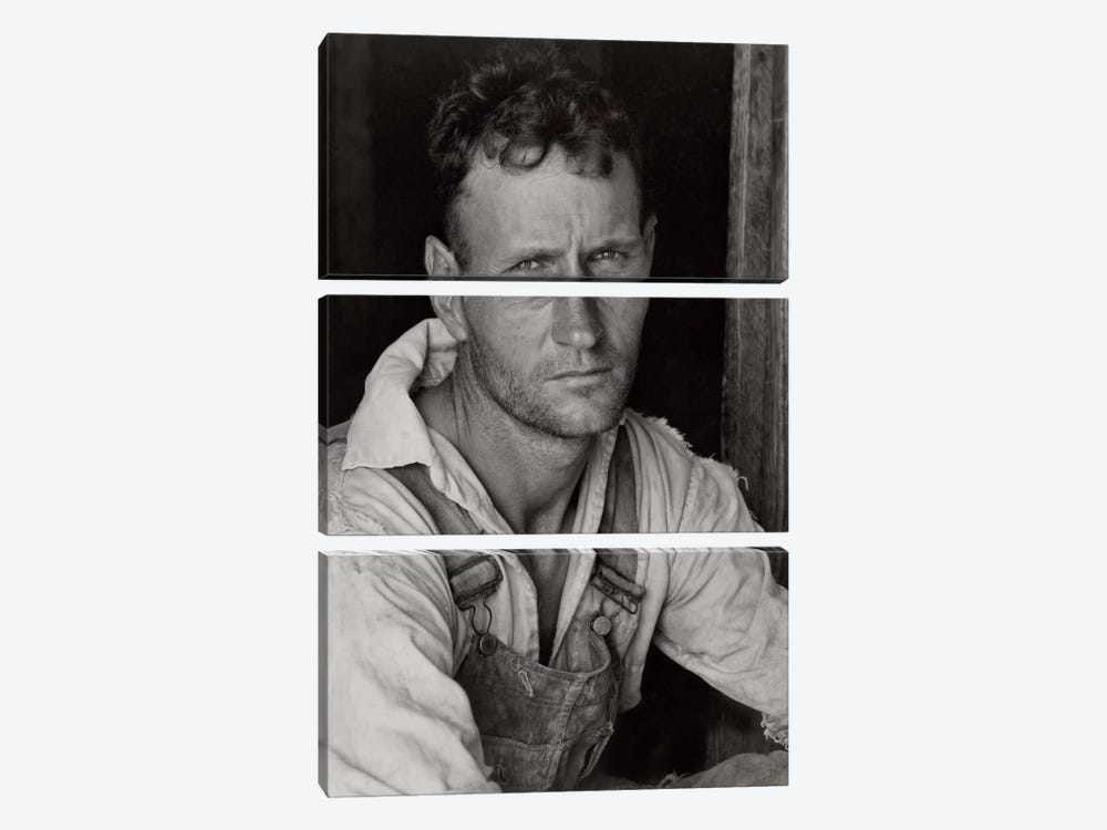 Floyd Burroughs, Sharecropper, By Walker Evans by Print Collection 3-piece Canvas Art