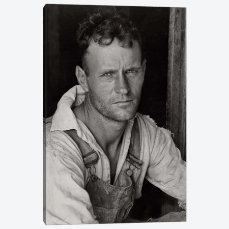 Floyd Burroughs, Sharecropper, By Walker Evans Canvas Print #PCA484} by Print Collection Canvas Artwork