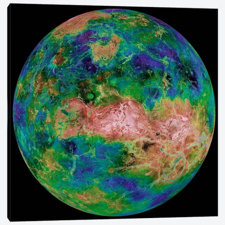 Hemispheric View of Venus Canvas Print #PCA487} by Print Collection Canvas Artwork