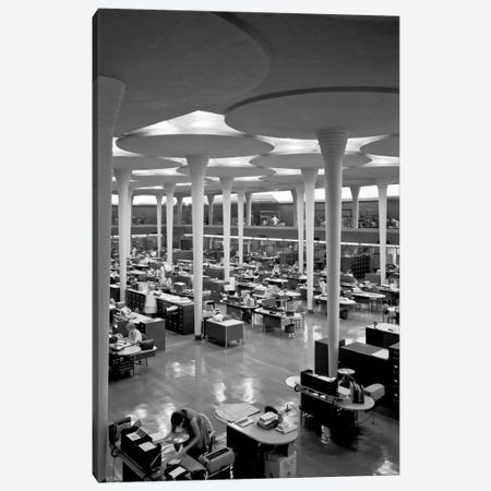 Johnson Wax Balcony, SW View Canvas Print #PCA488} by Print Collection Art Print