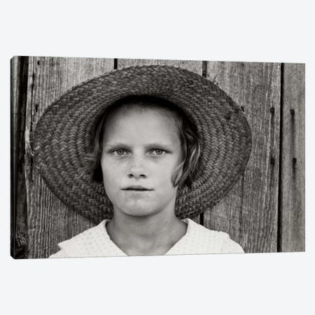 Lucille Burroughs, By Walker Evans Canvas Print #PCA489} by Print Collection Canvas Art Print