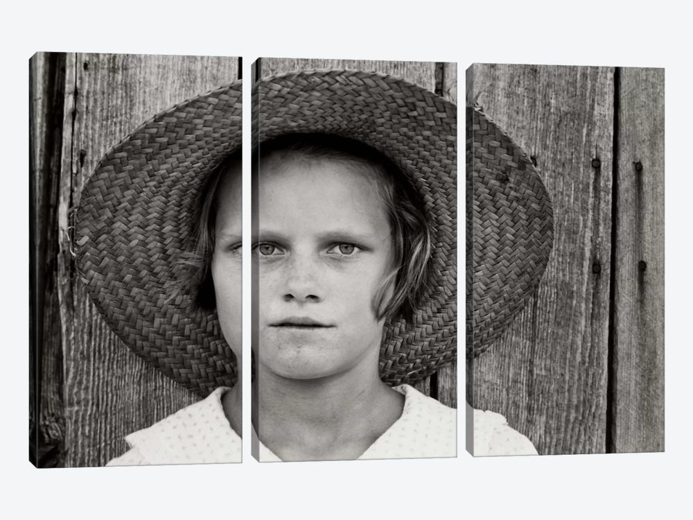 Lucille Burroughs, By Walker Evans by Print Collection 3-piece Canvas Art Print