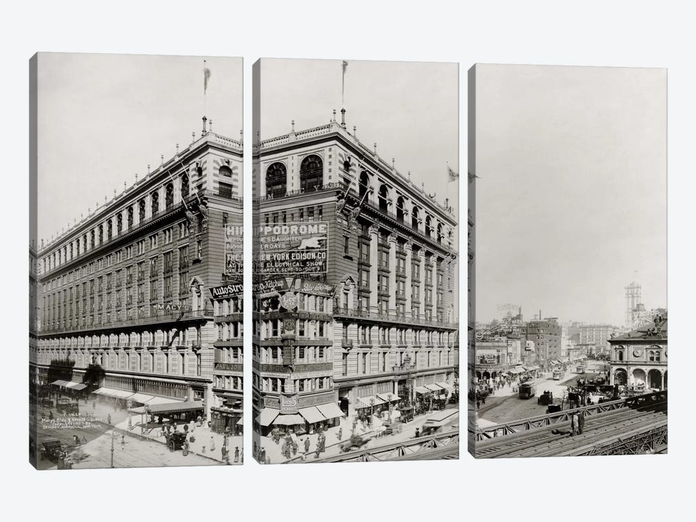 Macy's Department Store, New York, N.Y. by Print Collection 3-piece Canvas Print