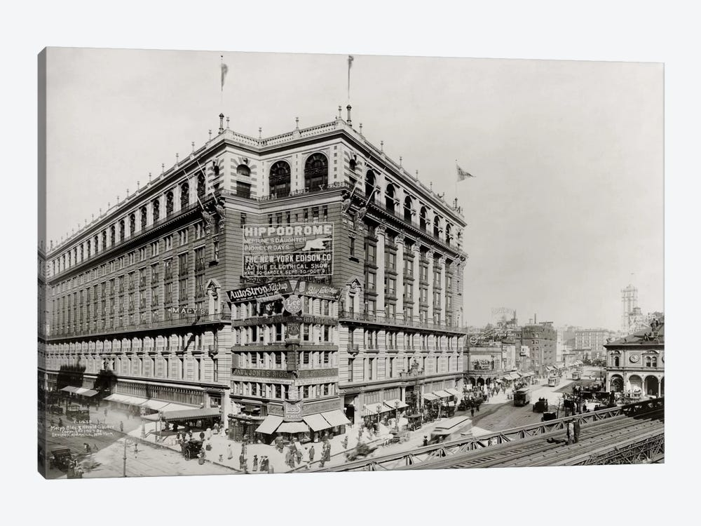 Macy's Department Store, New York, N.Y. by Print Collection 1-piece Canvas Art Print