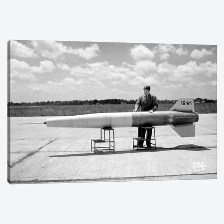 Man and Ramjet Missile Canvas Print #PCA493} by Print Collection Canvas Artwork