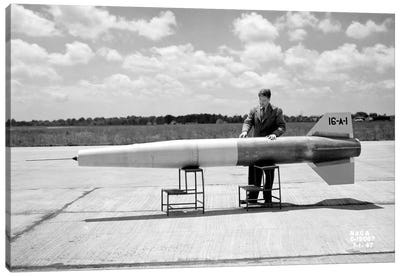 Man and Ramjet Missile Canvas Art Print
