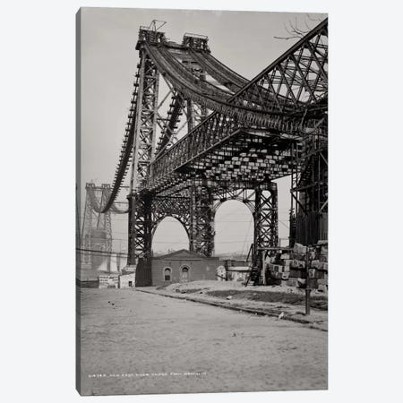 New East River Bridge Canvas Print #PCA497} by Print Collection Canvas Print