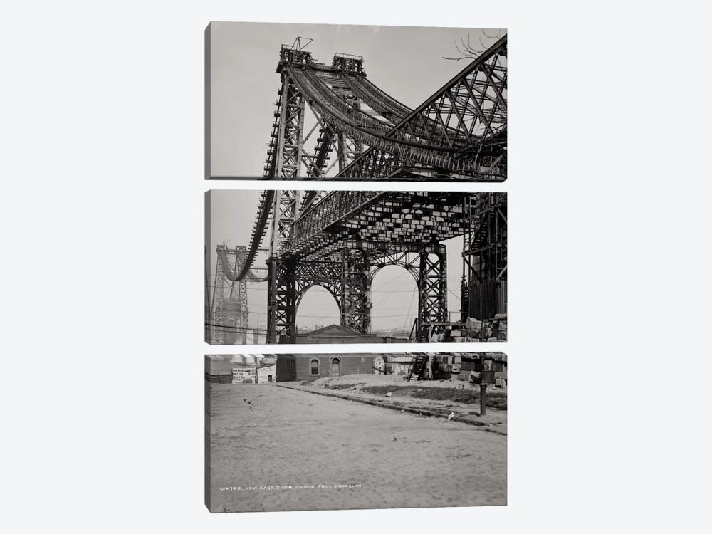 New East River Bridge by Print Collection 3-piece Canvas Art