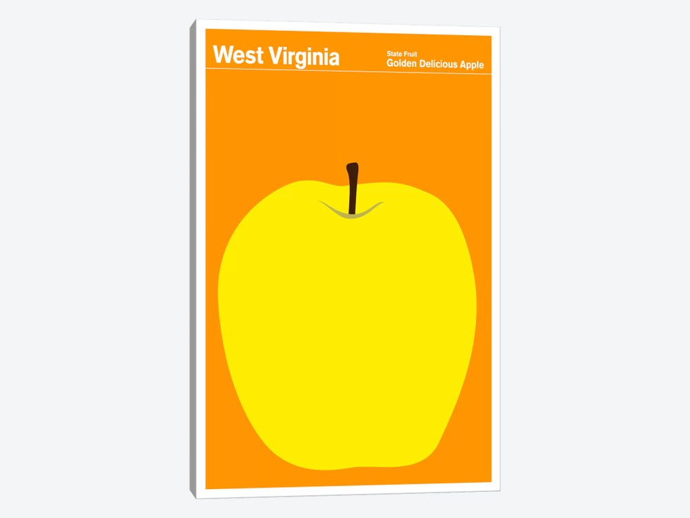 State Posters WV 1-piece Canvas Artwork
