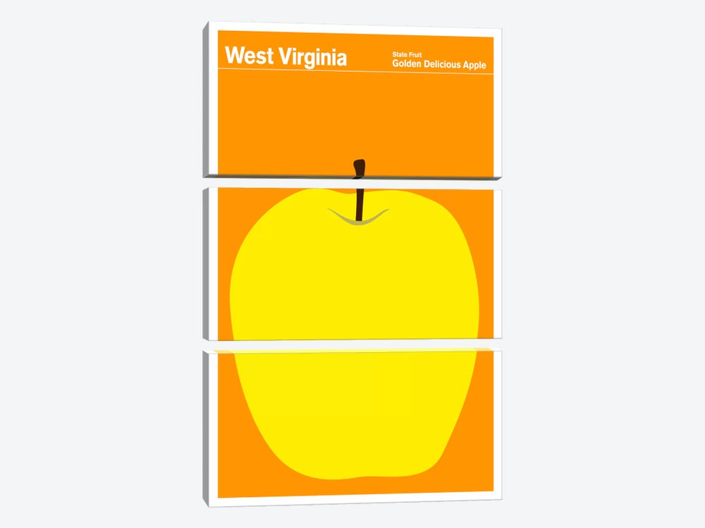 State Posters WV 3-piece Canvas Artwork
