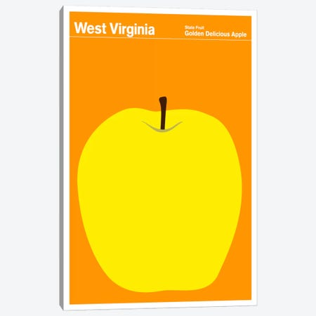 State Posters WV Canvas Print #PCA49} by Print Collection Canvas Artwork