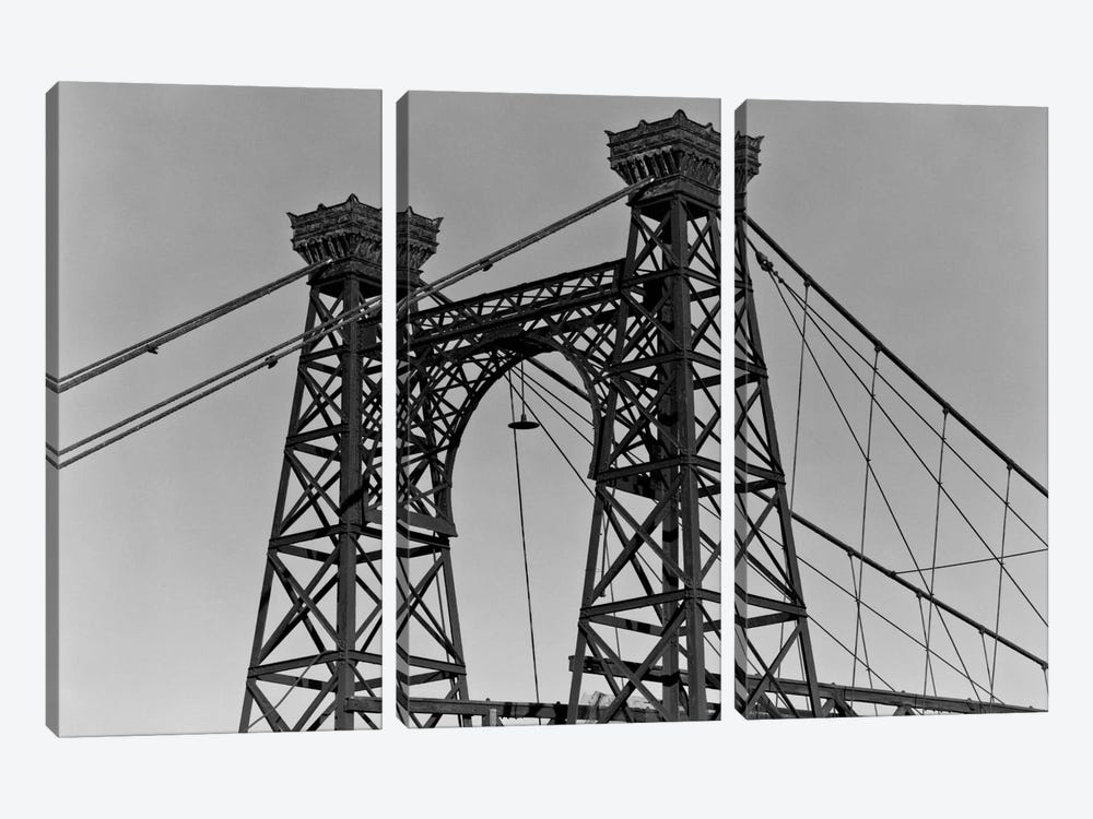 Pedestrian Suspension Bridge, Close Up by Print Collection 3-piece Canvas Print