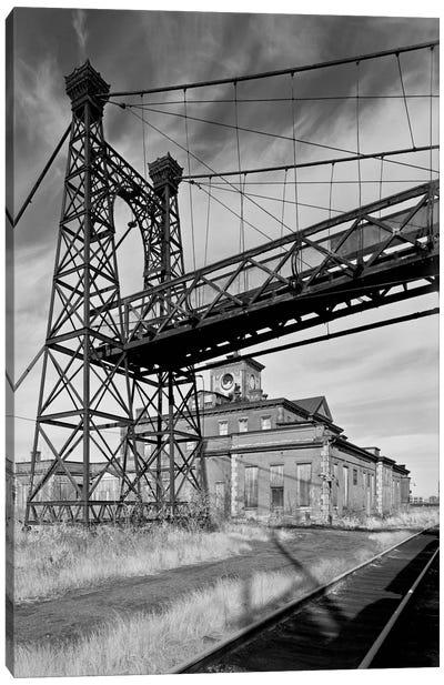 Pedestrian Suspension Bridge Canvas Art Print