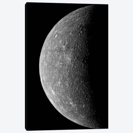 Planet Mercury, March 24, 1974 Canvas Print #PCA502} by Print Collection Canvas Artwork