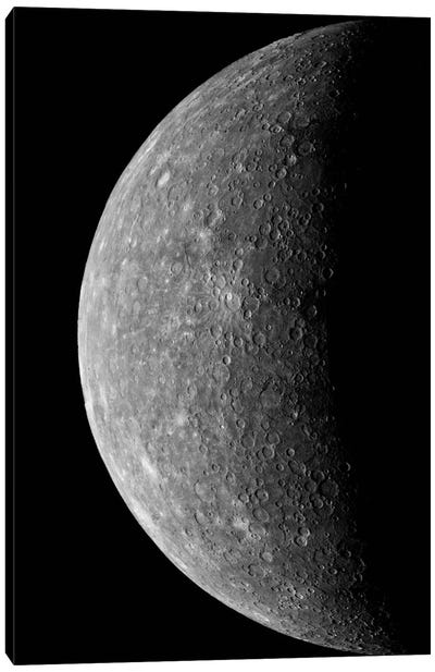 Planet Mercury, March 24, 1974 Canvas Art Print