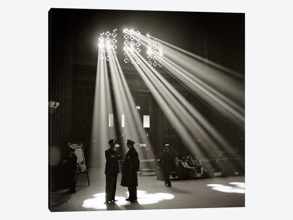 Police in Waiting Room of the Union Station, Chicago by Print Collection 1-piece Canvas Art