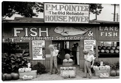 Roadside Stand Near Birmingham, Alabama Canvas Art Print