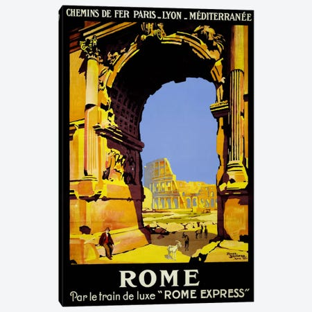 Rome Express Rome, Par le Train de Luxe Canvas Print #PCA508} by Print Collection Canvas Wall Art
