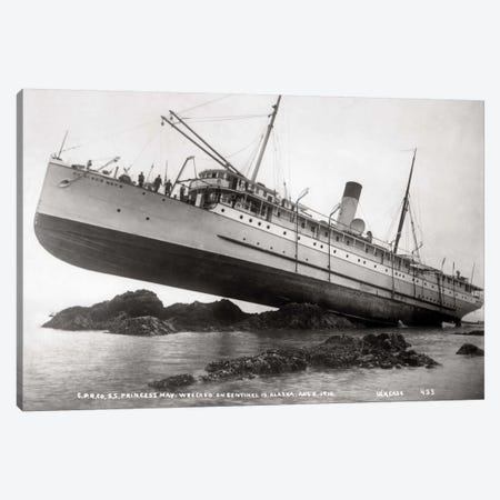 S.S. Princess May Wrecked Canvas Print #PCA509} by Print Collection Canvas Art